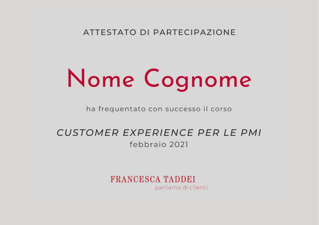 corso online in diretta sulla customer experience